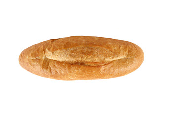 One roll bread isolated on white background