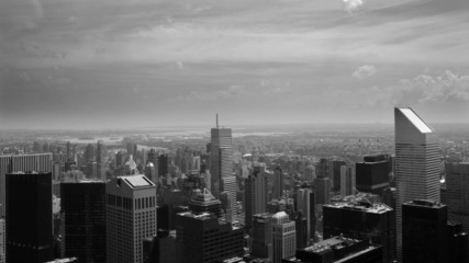 New York City Buildings in Black and White