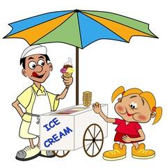 der Eismann und die Kundin
