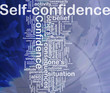 Self-confidence background concept