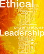 Ethical leadership background concept