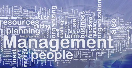 Management background concept