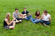 fröhliche gruppe macht musik