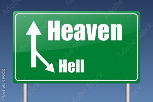 heaven traffic sign