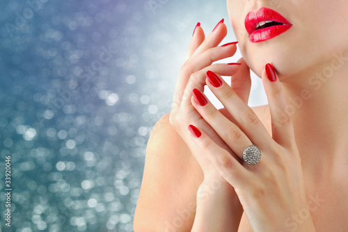 Lips and manicure
