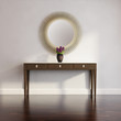 3d Classic, antique, buffet console with vase and gold  mirror