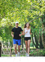 couple jogging outdoor