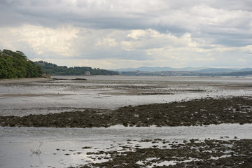 Firth of Forth, Scotland, looking west from Cramond, at low tide