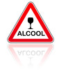 panneau attention danger alcool