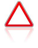 panneau attention danger vide