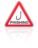 attention danger phishing poster