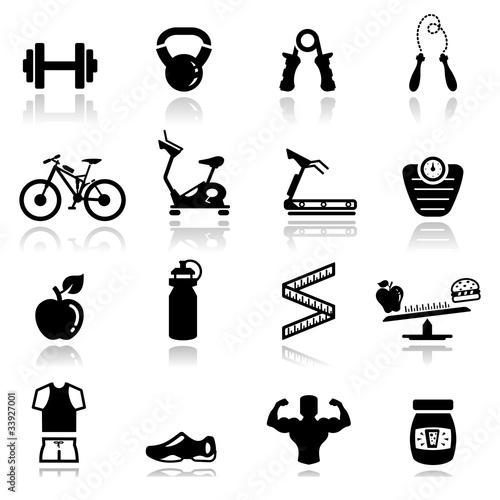 Icons set fitness