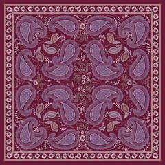 Burgundy Paisley Kerchief  Design