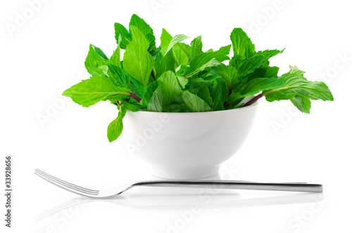 Mint in bowl