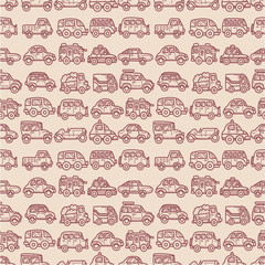 cartoon car seamless pattern