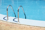 Handrail of the public swimming pool poster