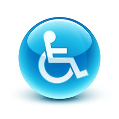 icône handicap / disabled person icon