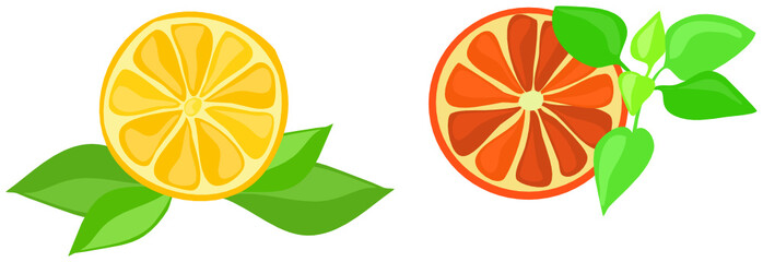 orange und grapefruit