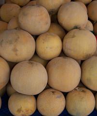 Whole uzbek yellow melon cantaloupe kavun