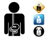 Gastroenterology pictogram and signs