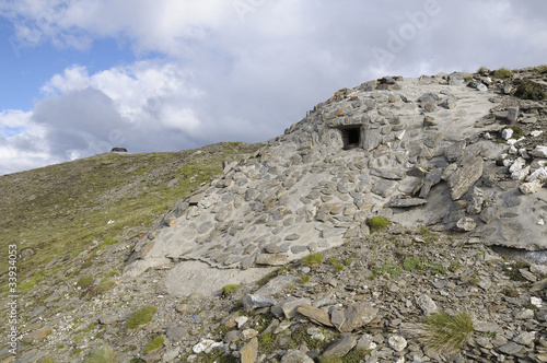 second station Fire centre n°8 - fort Malamot - Mont Cenis - ww2