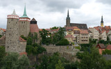 The medieval fortress of Bautzen. Overcast sky. Saxony. Germany. poster