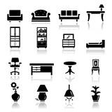 Icons set furniture