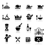 Fototapety Icons set Restaurant