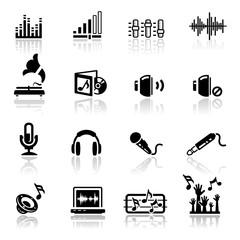 Icons set Sound