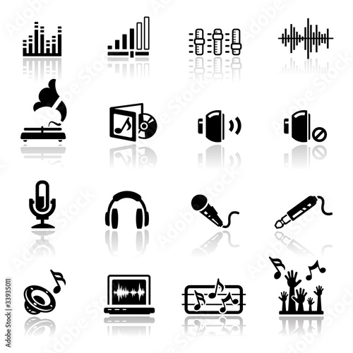 Icons set Sound