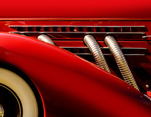 super charged classic car