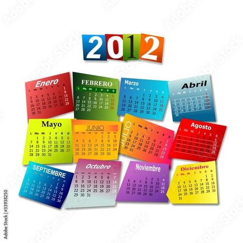 CALENDARIO 2012 EN ESPAÑOL