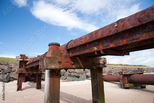 Sewage Outlet Pipe on a Beach