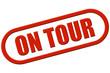 Stempel rot rel ON TOUR
