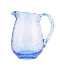 Glass pitcher with water isolated