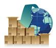 global business commerce concept illustration design