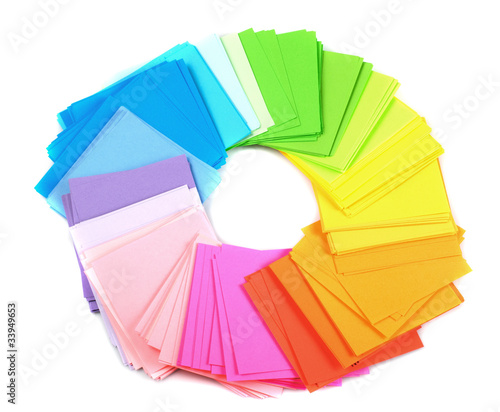 various color paper
