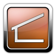 """Bronze Glossy Square Icon """"Shelter"""""""