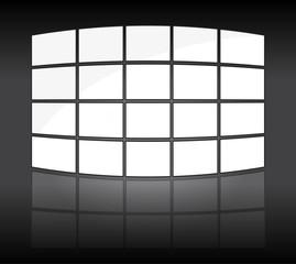 écrans de vidéos - mur d'images