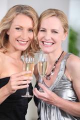 women partying