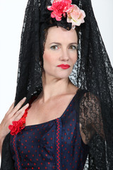 woman in lady costume
