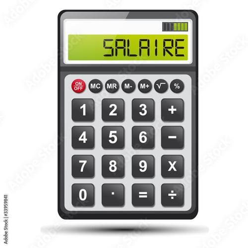 calculatrice et mot salaire