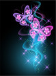 Background with smoke and butterfly