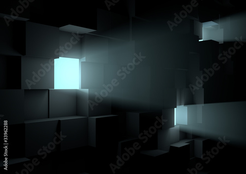 Volumetric cube wall