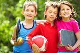 Fototapety Sportive friends
