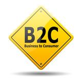Señal amarilla texto B2C poster