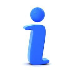 3d Information symbol (blue)