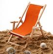sedia a sdraio sulla sabbia
