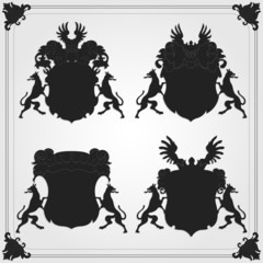 Vintage coat of arms collection set