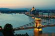 Budapest skyline at night, Hungary.